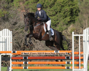 "Melissa Robertson rode ""Bones"" in the 95cm Class"