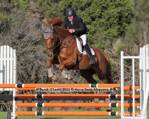 "Greg Cochrane riding ""Moonkan Zeke"" in the 95cm class"