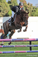 """2nd place in the 95 cm went to Billy Ramont riding """"Tulara For Quinar"""""""