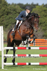 "Greg Smith rode ""Benjamin FH"" placing 7th in the 95 cm class"