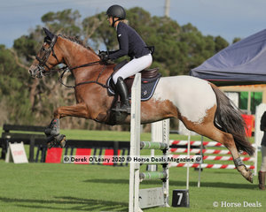 """Sally Black rode """"Commanche"""" in the 95 cm class"""