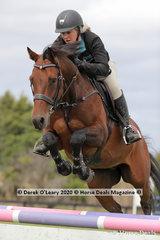 "Jess Kiernan rode ""Cera Cascaletto"" in the 110cm class"