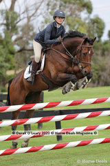 "Isabella Llloyd in the 110cm class riding ""Phantom Vortex"""