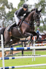 "Kelly Lees placed 5th in the 110cm class riding ""Wildon Park Tulouch"""
