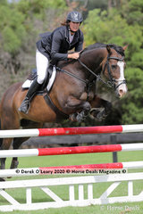 """Charley Beecroft in the 110cm class riding """"Money and Power"""""""