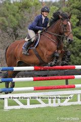 "Debra Heyes in the 110cm Class riding ""McManus"""