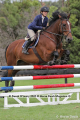 "Debra Heyes in the 110cm Class riding ""McManus"""