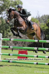 "Jess Kiernan in the 140cm class riding ""Hemsworth"""