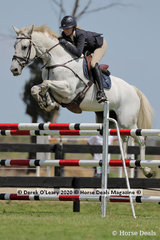 "Tori Stuckey rode ""Finch Farm Cab Sav"" placing 7th in the 140cm class"