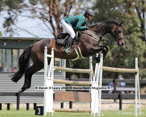 "Kate Beadel riding ""Luchia Elmare"" in the 140cm class"