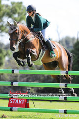 """Winners in the 125cm class, Kate Beadel riding """"Montey"""""""