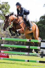 "Zoe Boulton in the 125cm class riding ""Furiosa"""