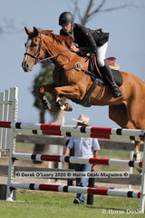 """Max Height placed 3rd in the 125cm class riding """"Valanski"""""""