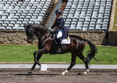 'Larapinta Showstar'<br> Owners: Moira Kelly & Lizzie Wilson-Fellows, <br> Rider Lizzie Wilson-Fellows <br> © Amy-Sue Alston