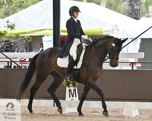 Sienna Hawkins rode her, 'Tallyho Something Saintly' by Tallyho Jupiter to Take third place in the Intermediate II U25.