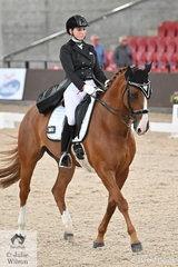 Layla Williams rode her, 'Weltd Salute' to fifth place in the Young Rider Team Test CDIY.