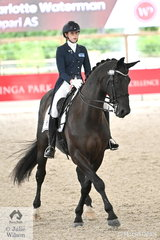 New South Wales rider, Charlotte Waterman rode her own and Karen Waterman's 'Campara As' by Damon Hill to win the Young Rider Team Test CDIY.