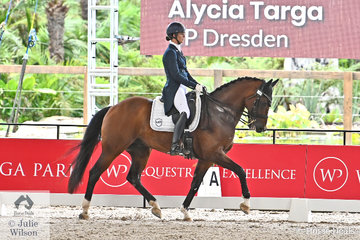 Alycia Targa rode Jane Bruce's, 'CP Dresden' by Damsey FHR to take fifth place in the Willinga Park Grand Prix CDI4*.