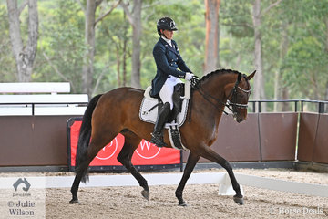 New Zealand rider, Victoria Wall rode the Elite Dressage Horses Ltd's, 'Letty Lei EDH' by Limonit to take tenth place in the Willinga Park Grand Prix CDI4*.