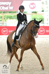 New Zealand rider, Melissa Galloway impressed with her, 'Windermere J'Obei W' by Johnson TN that took third place in the Willinga Park Grand Prix CDI4* with 69.174%.