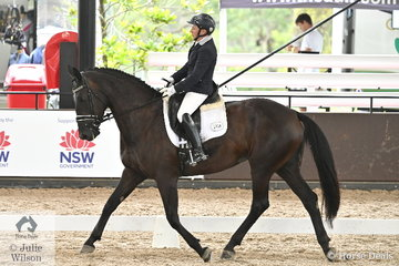 Anne Lovett rode her, 'Brierley Supa Nova' by Negro to win the Medium 4B AOR and third place in the 4A.