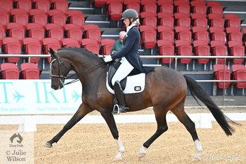 Rosann Tyler took fourth place in the Intermediate A CDN riding her Sandro Hit gelding, 'Sandro Bliss'.