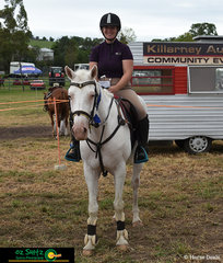 Allana Saunders and CC's Blondie placed first in the 1m AM5 round at the 2020 Killarney Show.