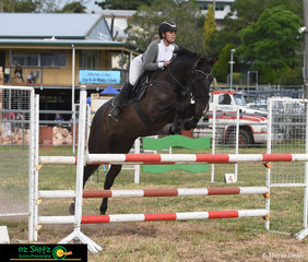 Competing in the 1.10m was Dakota Cooke on Santos at the 2020 Killarney Show.