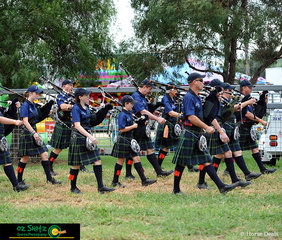 Saturday of the Killarney Show saw the opening ceremony led by the Warwick Thistle Pipe Band