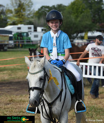 Happy with their efforts, Lachlan Lane and Bindi finsih fourth in the Junior Under 14 Years class.