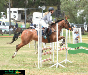 With two rides in the 80cm Show Jumping class at the Killarney Show was Kaiyana May, pictured here with CC's Astro Girl.