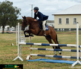 Competing in the 90cm Show Jumping Class was Campbell Shenfield riding his ASH gelding Bins Furo at the Killarney Show 2020.