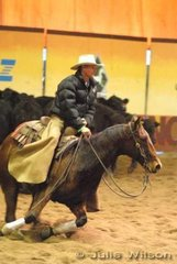 Rob Hodgman rode Eb's Couch to score 137 in the 1st Go Round of the EquiPro Derby.