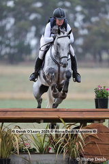 """Winners in the CCN 2*, Kate Wallis and """"Harrold Esquire"""" with a winning score of 35.20 picking up 2.8 time faults on Cross Country"""