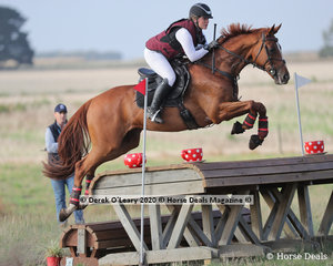 """Brooke Searle in the CCN 2.5* riding """"Dapoint"""" placed 10th with a final score of 67.60"""