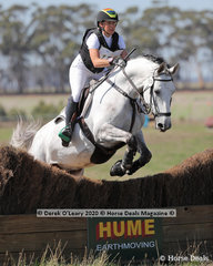 """Megan Jones placed 2nd in the EVA80 Section A riding """"Viva"""" with a final score of 28.10"""