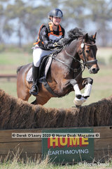 """Winners in the EVA80 Juniors Section, Meg Small riding """"Foxcote Frankincense"""" with a final winning score of 24.10 finishing on their Dressage score with clear Showjumping and Cross Country rounds"""