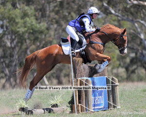 """Jennifer Hodgins-Smartplaced 2nd in the EVA95 Section A riding """"Lambourne Park Couperin"""" with a final score of 32.40"""