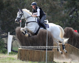 """Georgina McCarroll placed 6th in the CCN 1* riding """"Ballahowe Funhouse"""" with a final score of 36.20"""