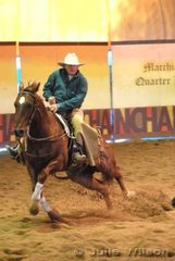 Ian Francis rode Zigenbine to score 137 in the 1st Go Round of the EquiPro Derby.