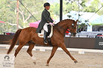 Malcolm MacRae is pictured aboard Carolyn Lieutenant's, 'Waitano' during the Intermediate 1 Freestyle.