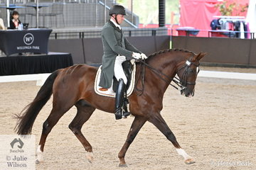 Mark Kiddle is pictured aboard Jane Blomfield's, 'Sir Anton' during the Intermediate 1 Freestyle.