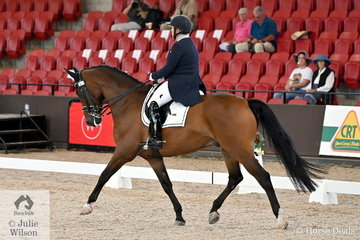 Robyne Smith took fourth place in the Intermediate A/B Freestyle with her, 'Gwandalan Luca'
