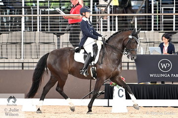 Sharon Potter rode her own and Bev Healey's, 'Bradgate Park Delilah' to fourth place in the Grand Prix Freestyle CDN.