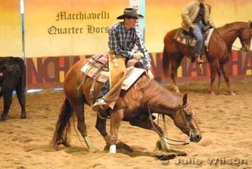 Aaron Wheatley rode Chickasha Hope to score 150 in the 1st Go Round of the EquiPro Derby.