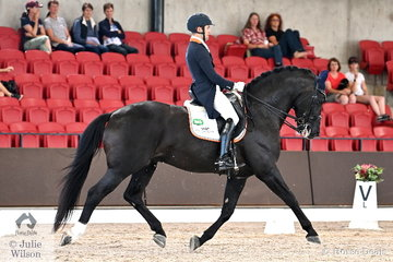 Talented New Zealand rider, John Thompson was yet another to score a personal best in the Grand Prix Freestyle CDI 4*. He rode his  nine year old Dutch Connaisseur stallion, 'JHT Chemestry' to take third place with 75.025%.