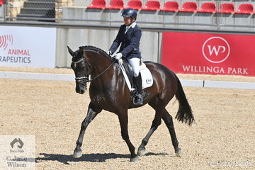 Anwen Lovett also put in an impressive performance in round 2 of the Six Year Old young Horse class. She rode her Negro mare, 'Brierley Supa Nova' to score 79.400% for third place.