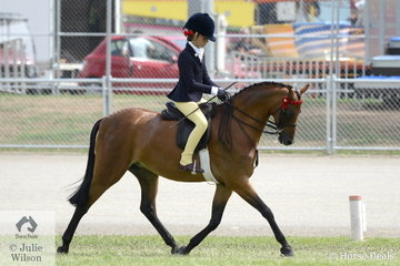 Successful young rider, Annabelle Richardson from Victoria rode her mother, Emma Richardson's 'Nalinga Piano Man' to win the class for Child's Show Pony/Show Hunter Pony N/E 12.2hh and go on to claim the Championship.
