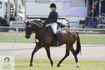Tayla Wilson is pictured aboard her, 'Shakira LP' during the class for Ridden ANSA over 16hh..