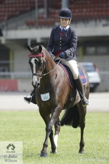 Brent, Jean and Kelly Hull's, 'KL Embers' won the class for Ridden ANSA 14-15hh.